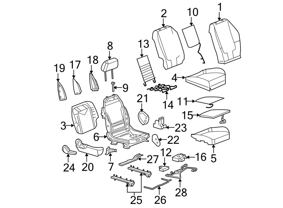 Pontiac G6 Seat Back Recliner Adjustment Handle (Right