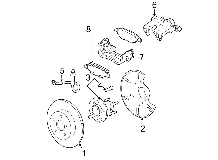 2008 Pontiac Brake Hydraulic Hose (Rear). Disc, Brakes