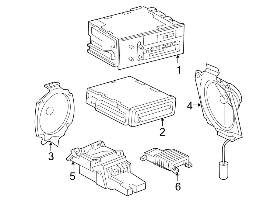 Chevrolet Suburban 1500 Speaker. Rear door, w/enhanced