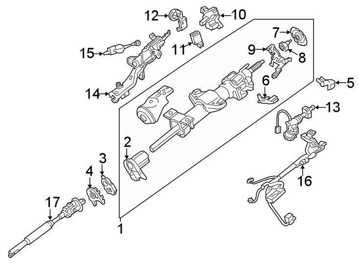 Cadillac Escalade ESV Steering Column Wiring Harness. W