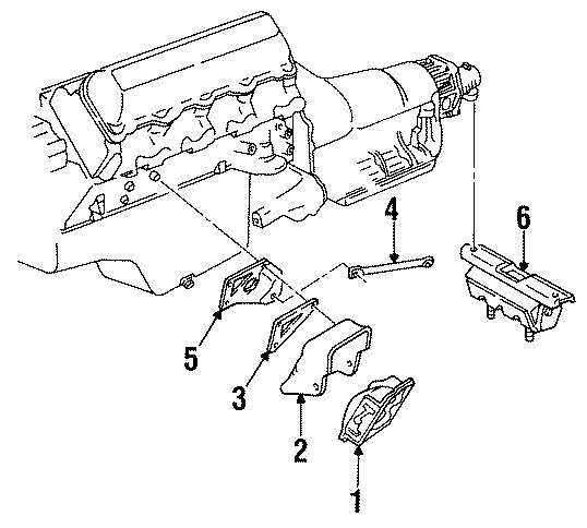 GMC C1500 Suburban Manual Transmission Mount. LITER
