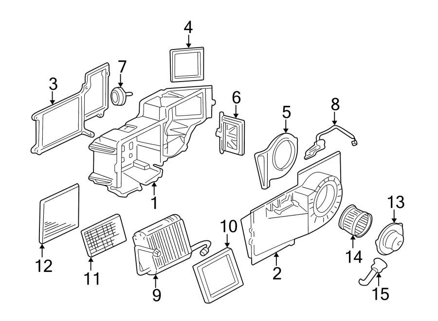 Chevrolet Express 3500 Front case. HVAC Blower Motor