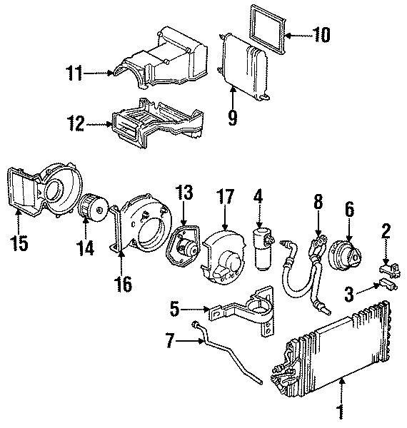Cadillac Escalade A/c evaporator core case (lower). Front