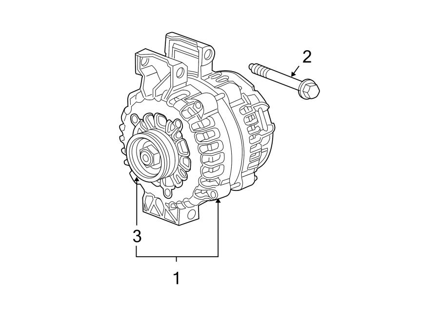 GMC Canyon Bolt. Alternator. (front, upper, lower