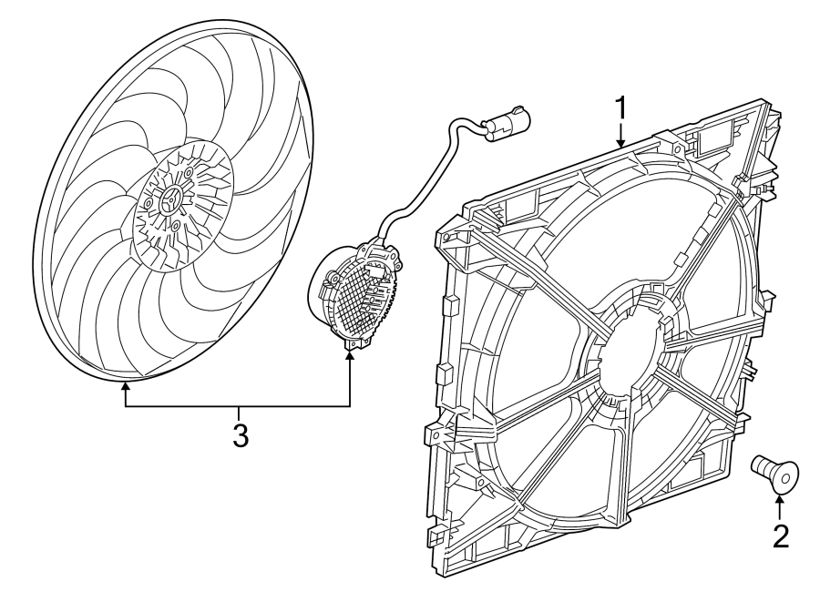 GMC Canyon Engine Cooling Fan Shroud Bolt. 2.0 LITER, 2016