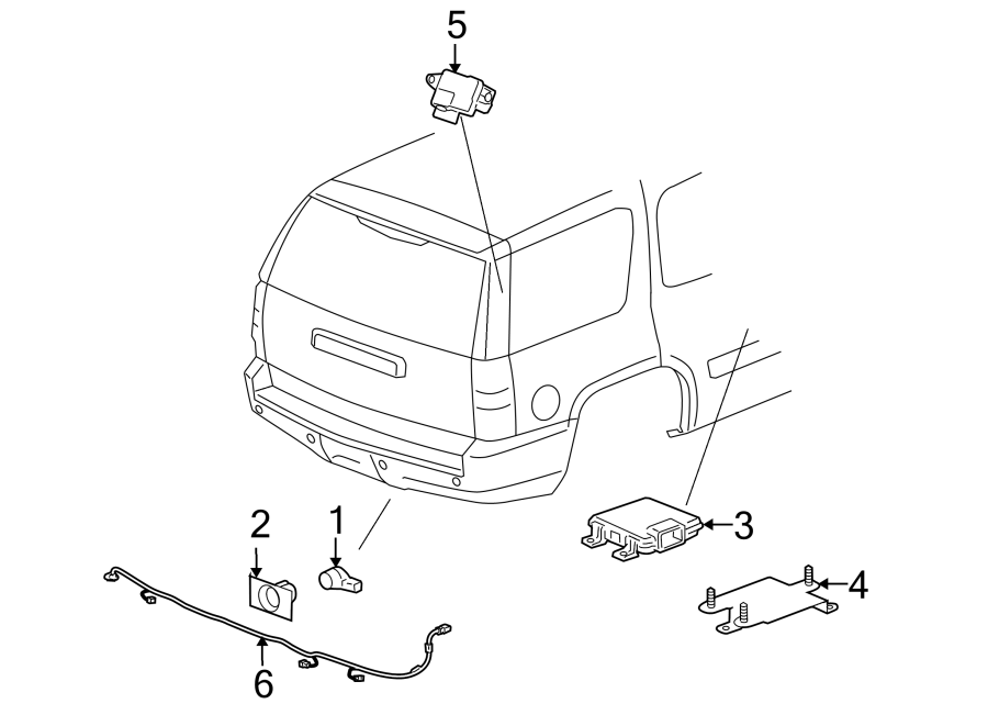 Cadillac Escalade Parking Aid System Wiring Harness