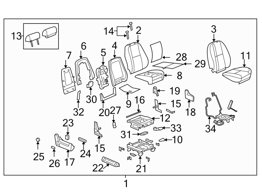Cadillac Escalade Power Seat Wiring Harness. PASSENGER