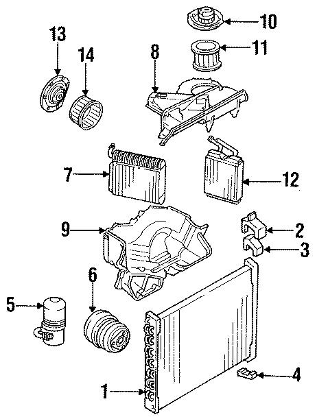 Buick Regal A/c accumulator. 3.1l; w/rear ac. Main unit, w