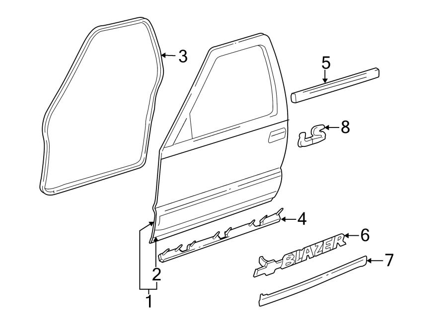 GMC Jimmy Door Seal (Front, Rear, Upper, Lower). Right