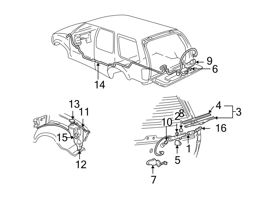 Oldsmobile Bravada Back Glass Wiper Blade (Rear
