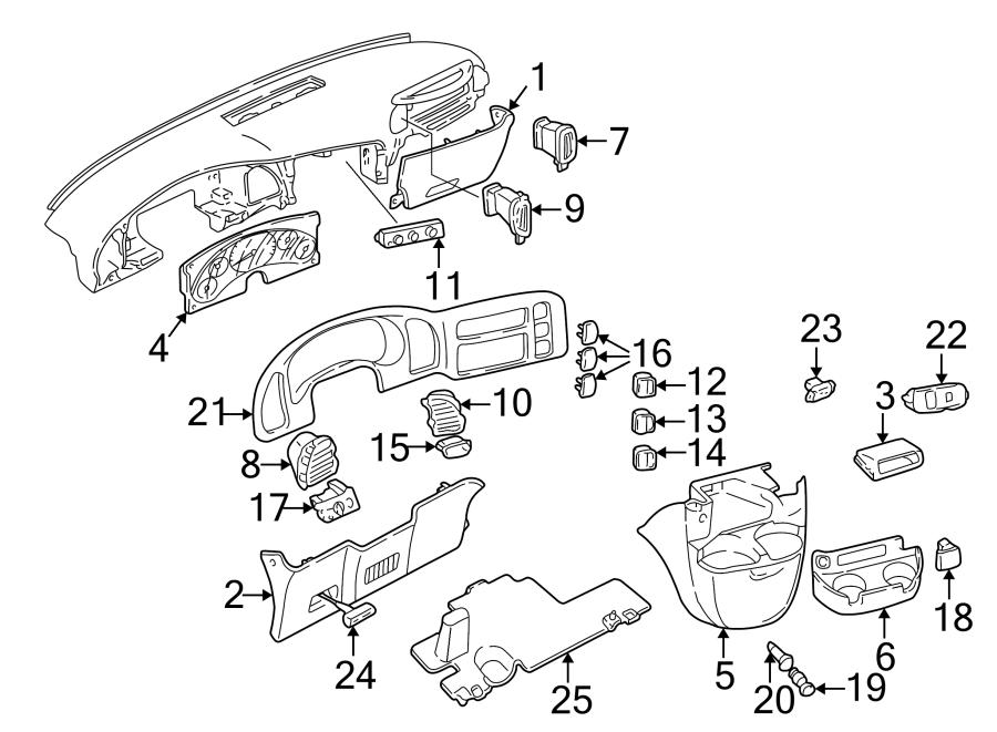 Chevrolet K1500 Suburban Headlight Switch. Instrument