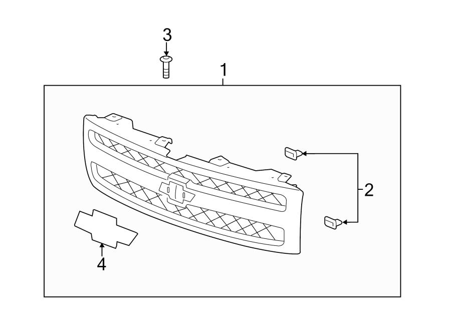 parts diagram 2000 gmc sierra grille