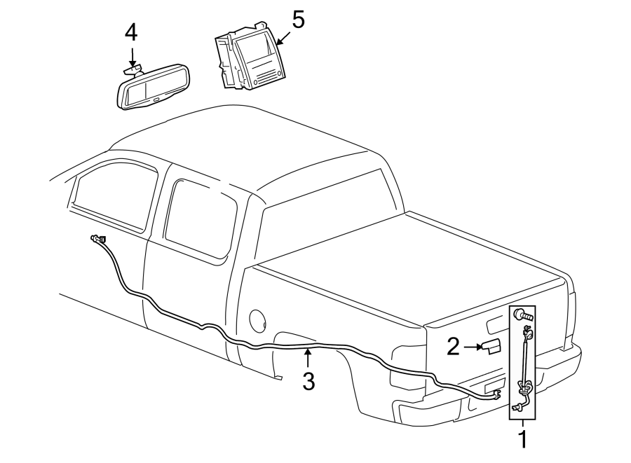 Chevrolet Silverado 2500 HD Park Assist Camera. ELECTRICAL