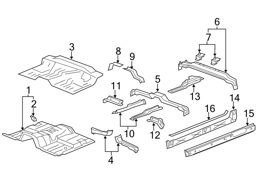 Chevrolet Silverado 1500 Rocker Panel Reinforcement (Front