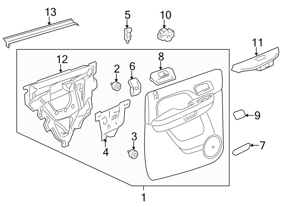 GMC Sierra 2500 HD Door Interior Trim Panel (Rear). CREW