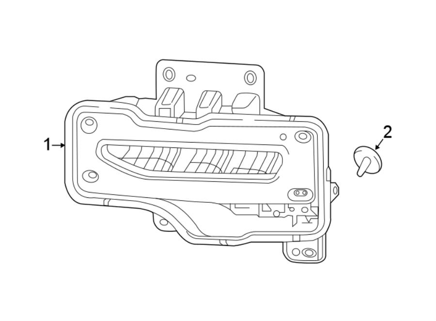 Chevrolet Silverado 1500 Fog Light (Front). 2016-19