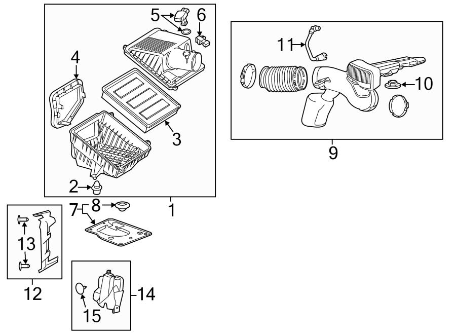 Chevrolet Silverado 3500 HD Engine Air Intake Hose (Rear