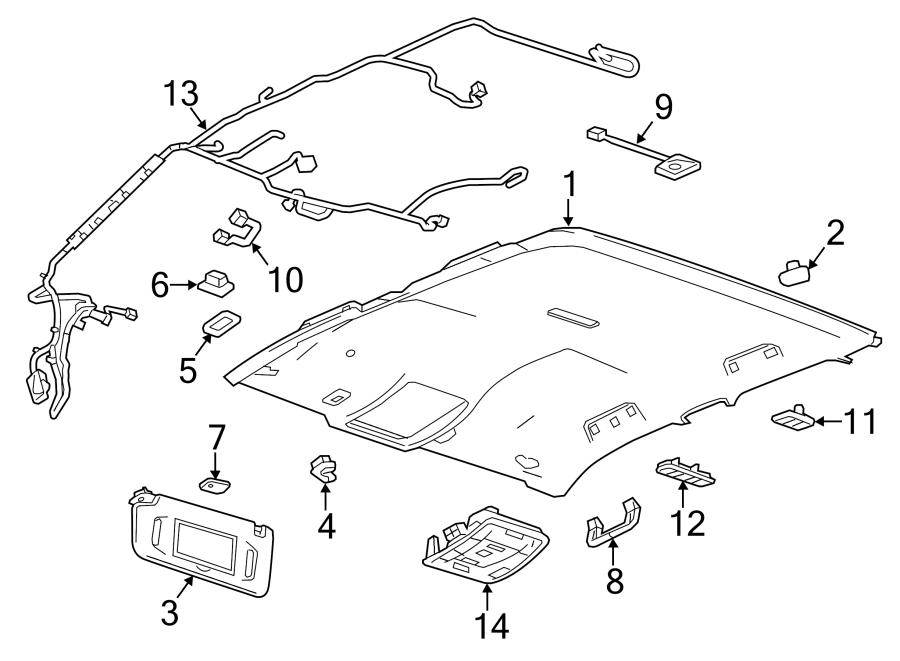 Chevrolet Silverado 2500 HD Headliner Wiring Harness