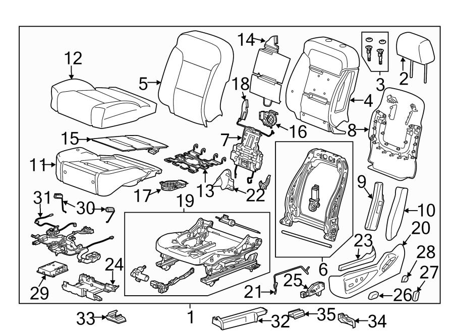 GMC Sierra 3500 HD Power Seat Wiring Harness. Denali