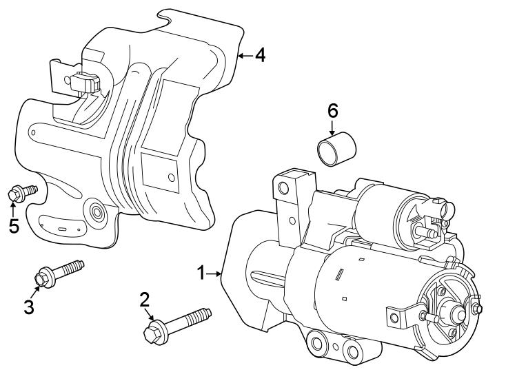 Chevrolet Silverado 1500 Starter Motor Spacer. 2.0 LITER