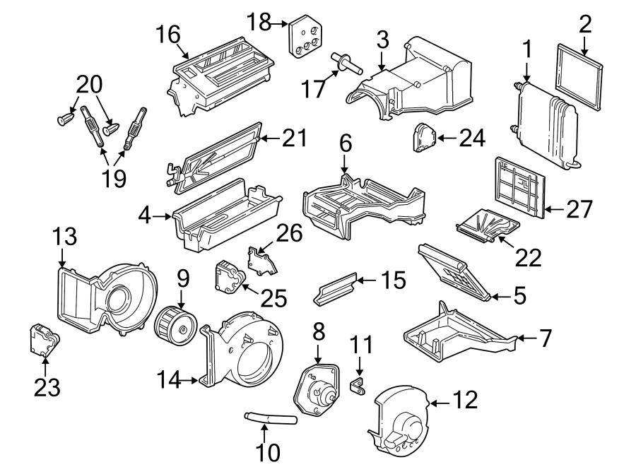 Chevrolet K3500 Hvac mode door lever link. Heater/def