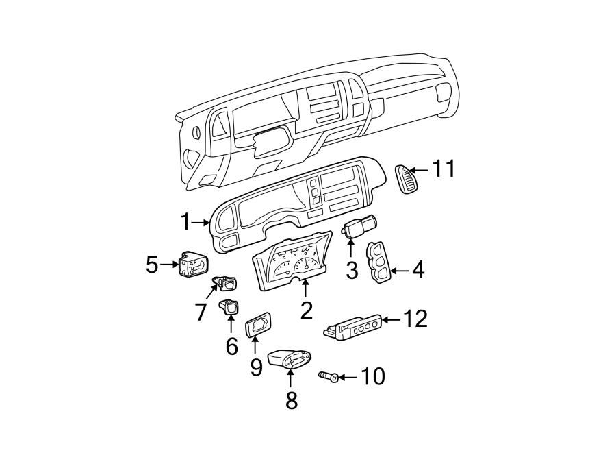 GMC K3500 Headlight Switch. Instrument Panel Dimmer Switch