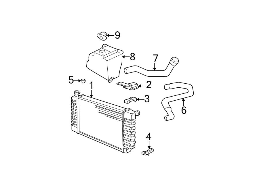 GMC C2500 Radiator Coolant Hose (Lower). 5.0 & 5.7 LITER