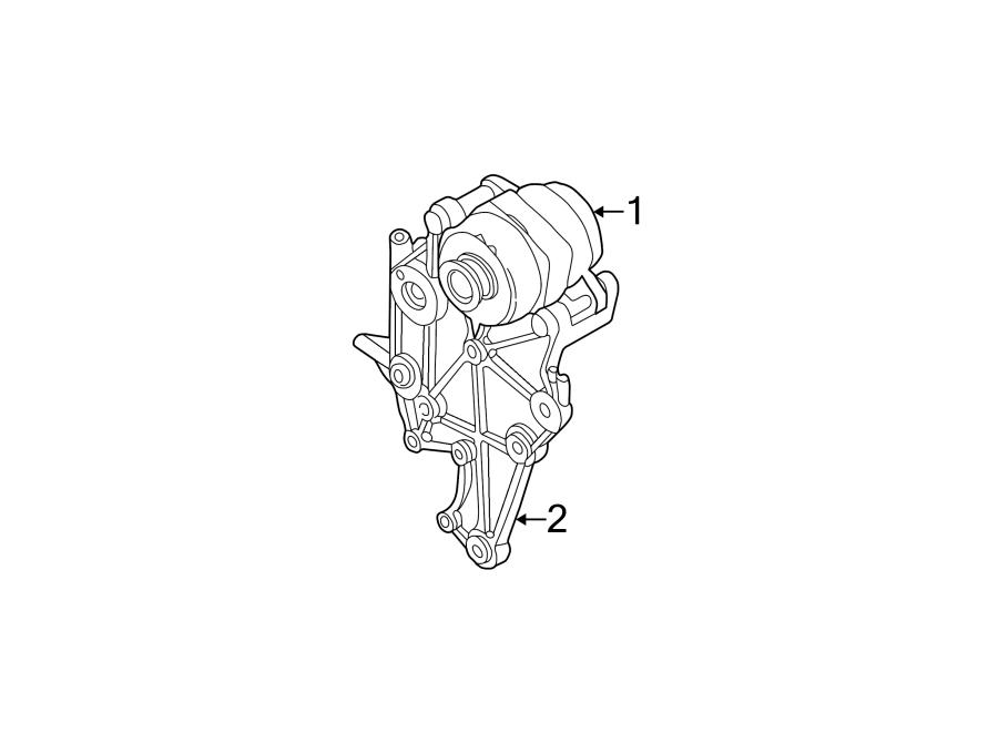 2003 Chevrolet Bracket. Compressor. Liter, diesel