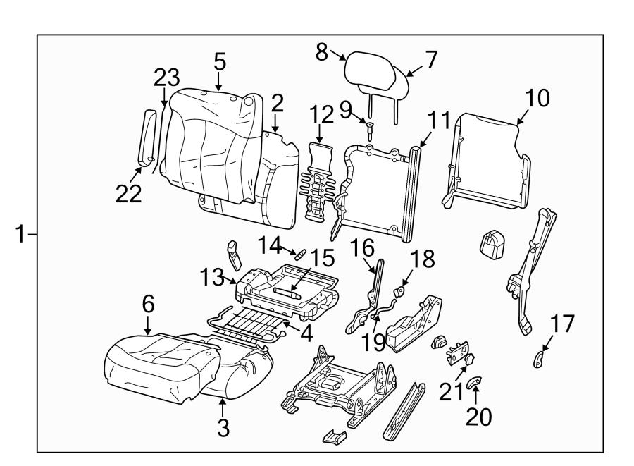 GMC Sierra 1500 Spring. Seat. Wire. Support. (Lower