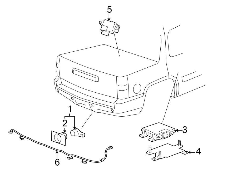 Chevrolet Avalanche Parking Aid Control Module (Rear