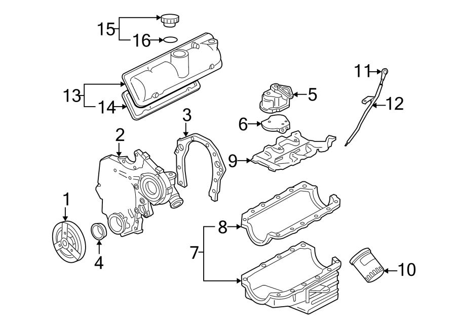 Chevrolet Uplander Seal. Cover. Timing. Oil. (front, rear