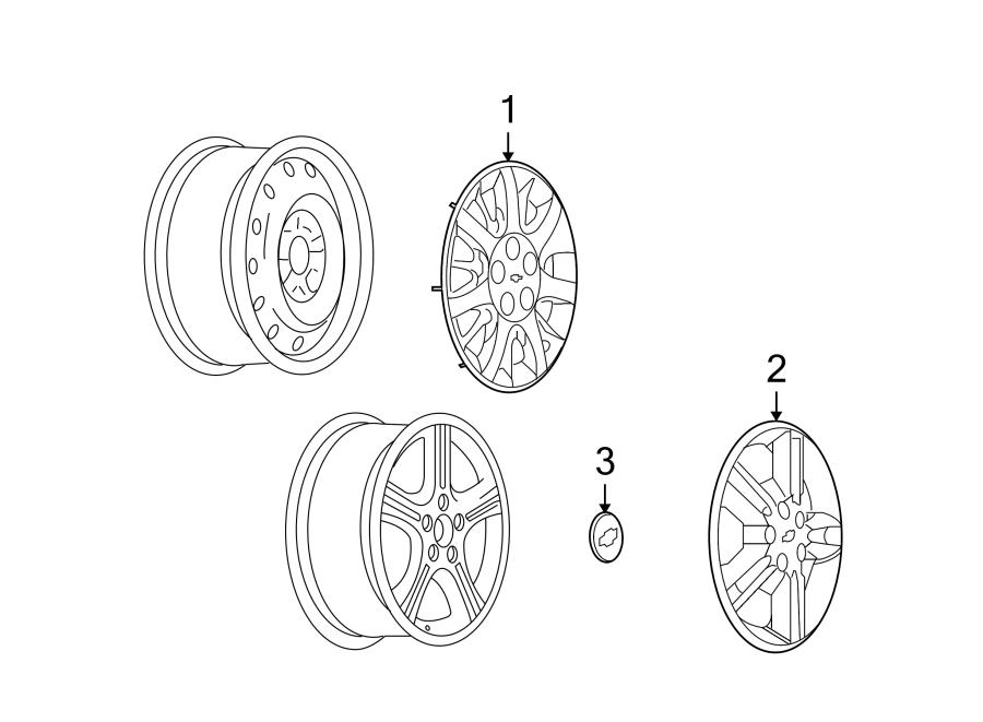 Chevrolet Uplander Wheel Cap. 20 wheel. Center, WHEELS