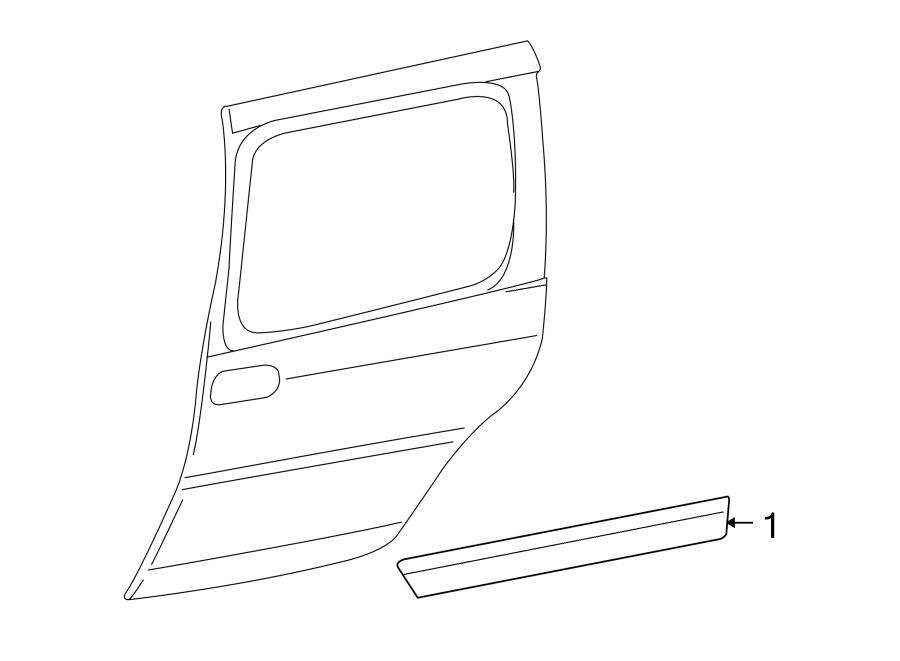 Chevrolet Uplander Body Trim Molding. SHORT WHEELBASE, w/o