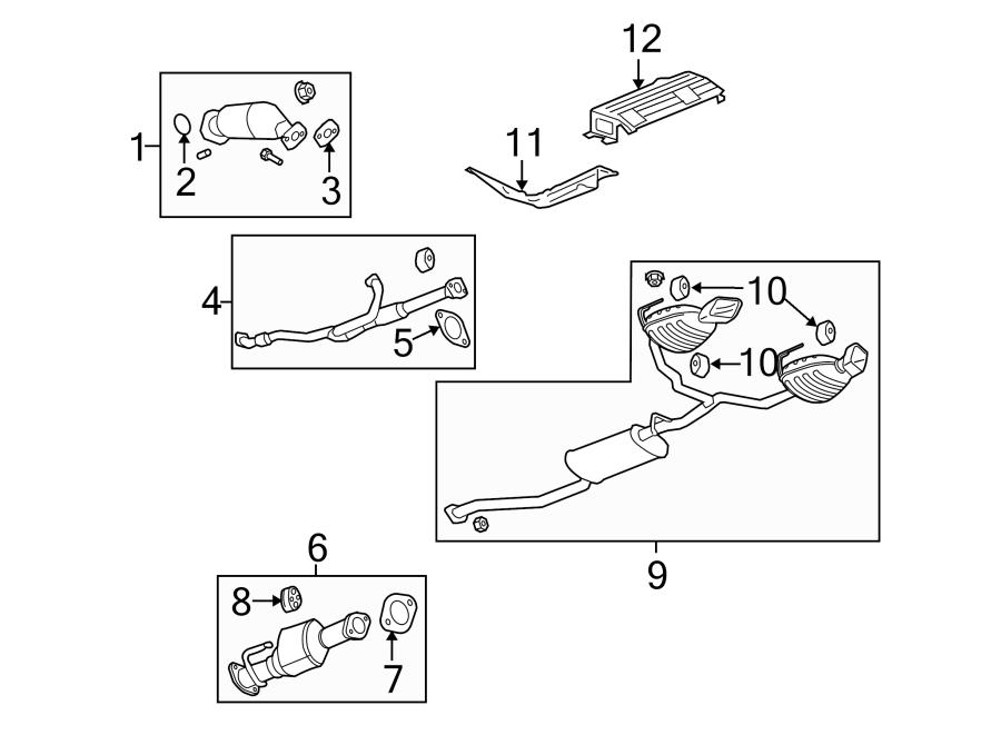 2013 Chevrolet Traverse LTZ Pipe. Exhaust. (Front). 2009