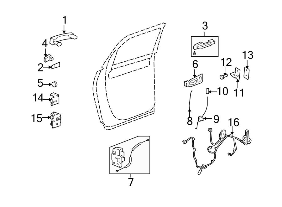 Chevrolet Traverse Door Wiring Harness (Rear). W/premium