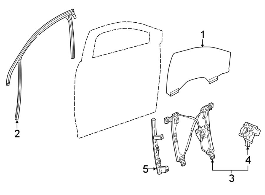 Chevrolet Traverse Power Window Motor. Right, Down, Make