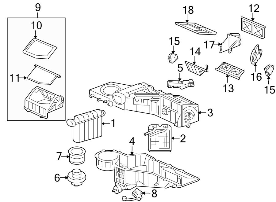 2003 Hummer H2 Hvac blower motor control module. 2003-07