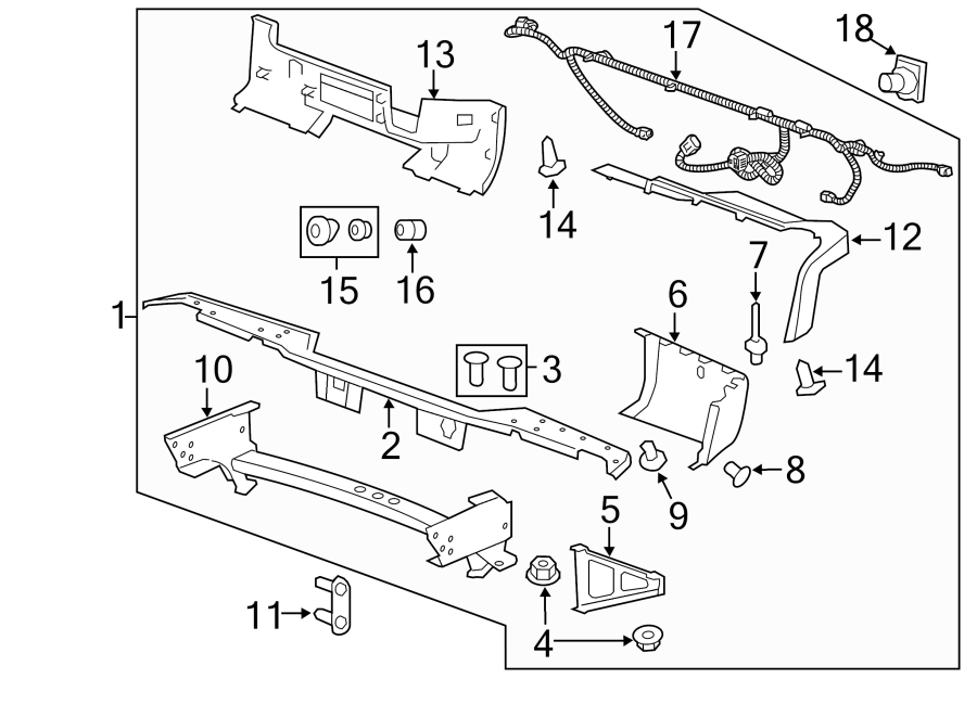 2010 Chevrolet Silverado 1500 Harness. (Rear). Bumper