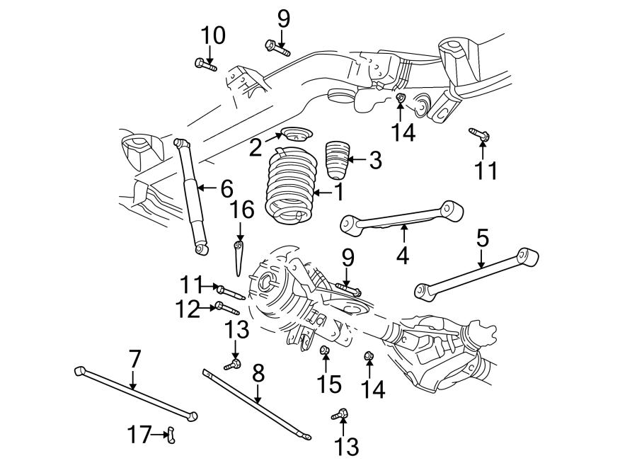 2004 Chevrolet Rod. Bar. Arm. Track. Link. Control, auto