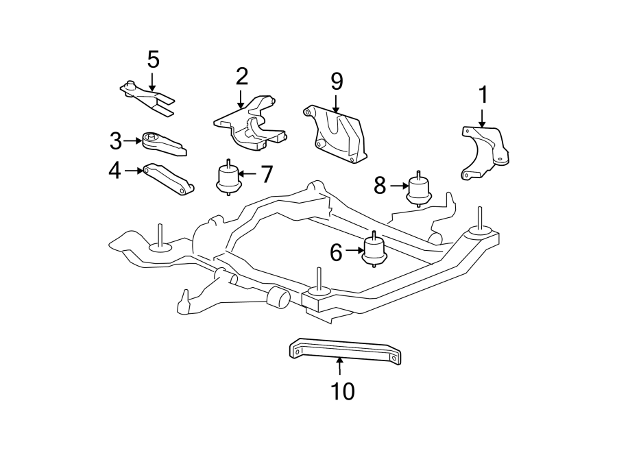 GMC Acadia Bracket. Engine. Strut. Mount. (Upper). Upper