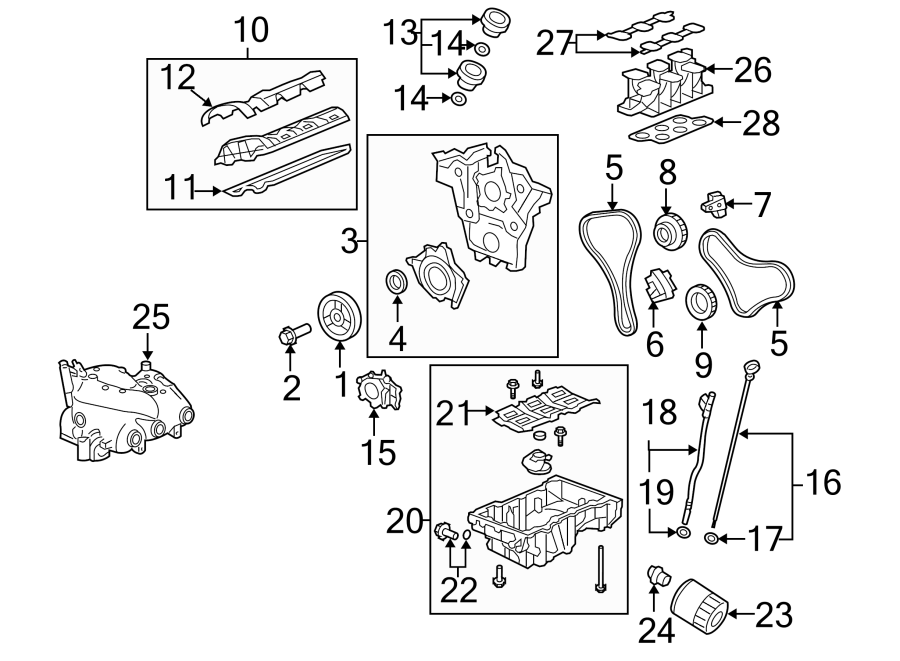 Chevrolet Equinox Gear. Crankshaft. Timing. Sprocket