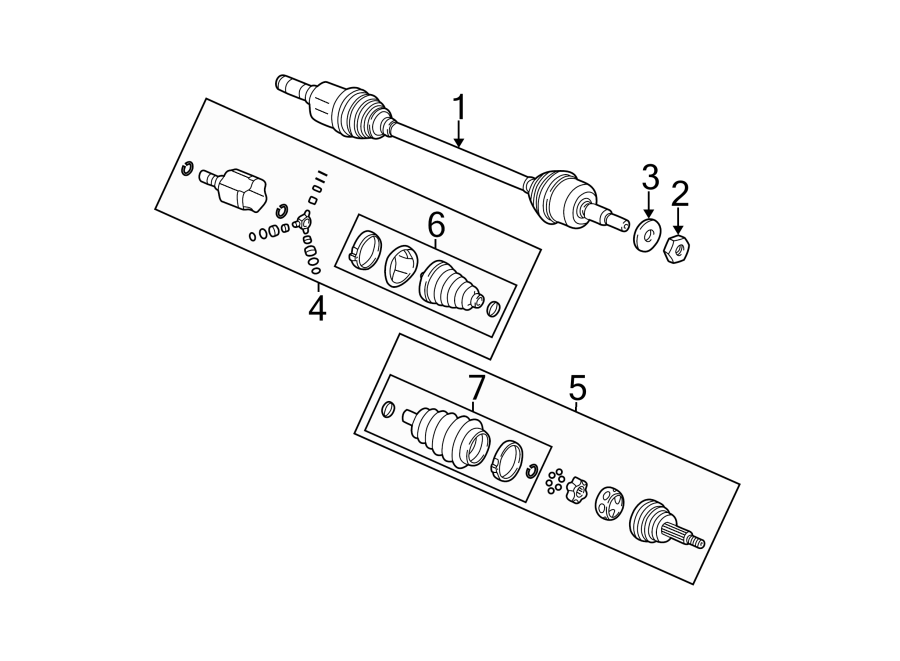 Chevrolet Equinox Cv axle assembly (rear). Right, drive