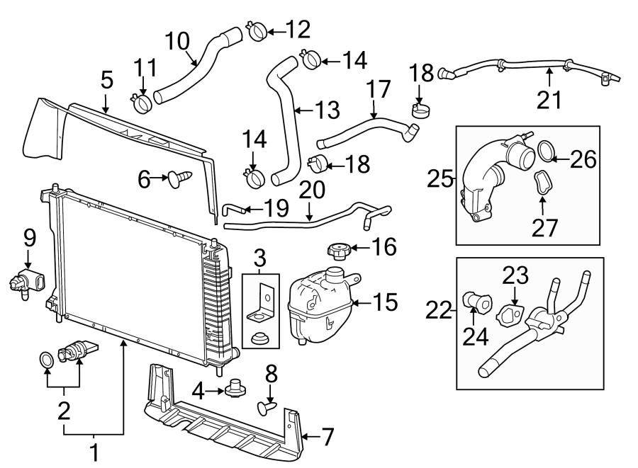 Chevrolet Equinox Radiator Drain Plug. 2.4 LITER. 2.8