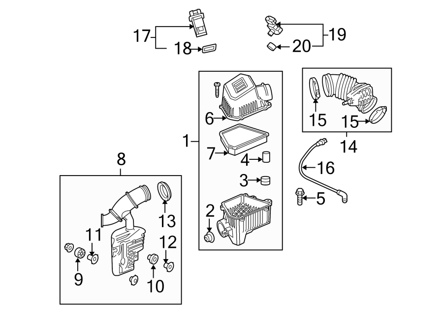 Chevrolet Equinox Engine Air Intake Hose. 3.0 LITER