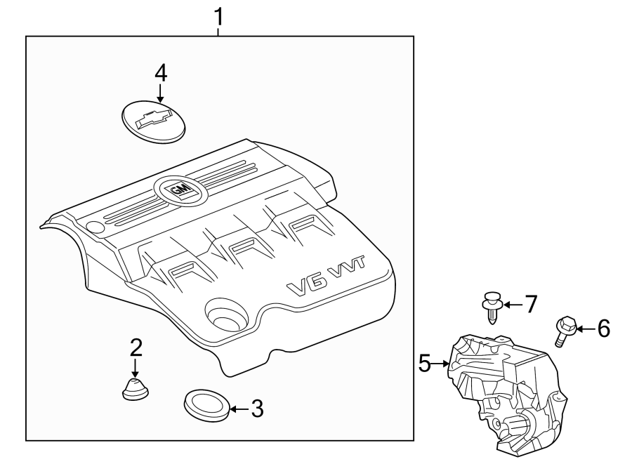 Chevrolet Equinox Engine Cover Insulator. Shield. Sound