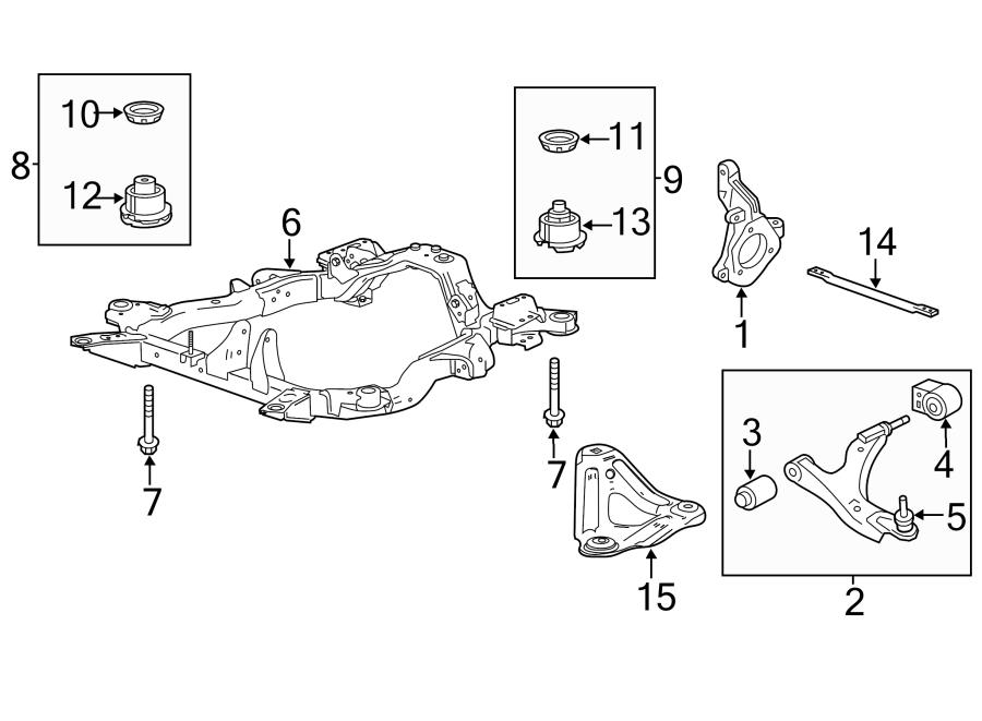 Chevrolet Equinox Engine Cradle (Front). 2.4 liter. 2.4