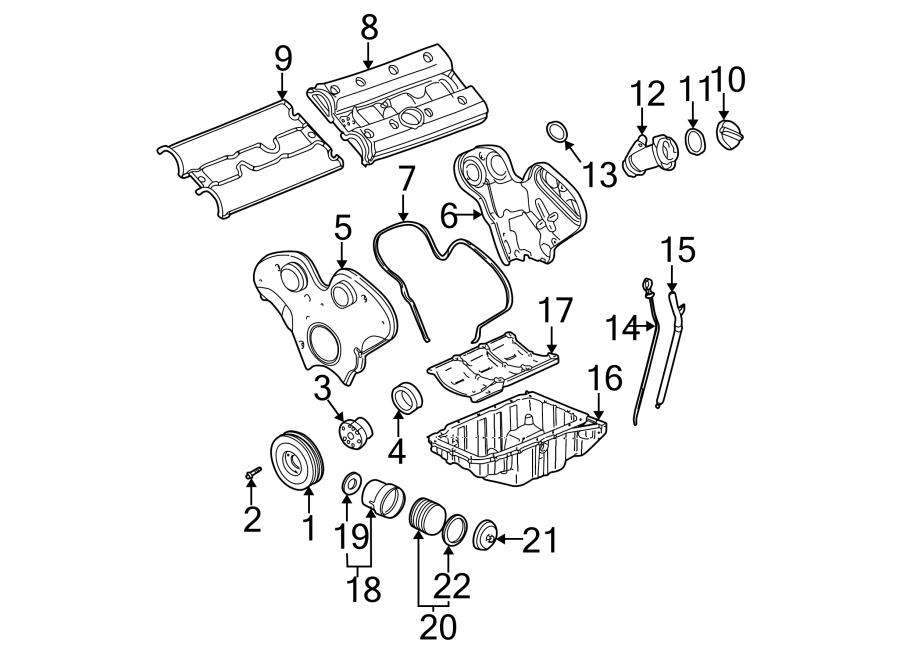 Saturn Vue Engine Oil Filter Housing. 3.0 LITER. TRANSAXLE