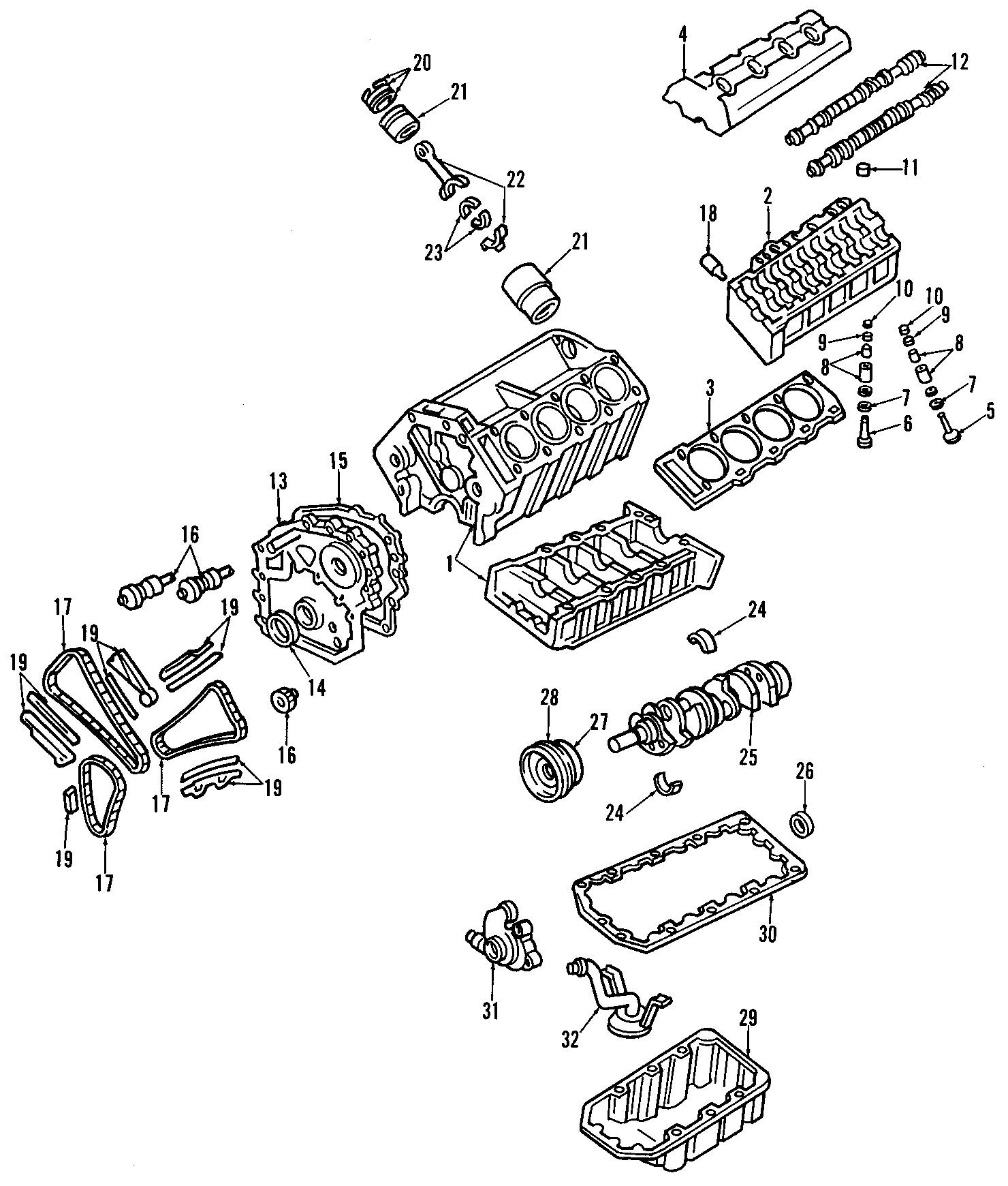 Chevrolet Corvette Engine Crankshaft Seal Front Rear