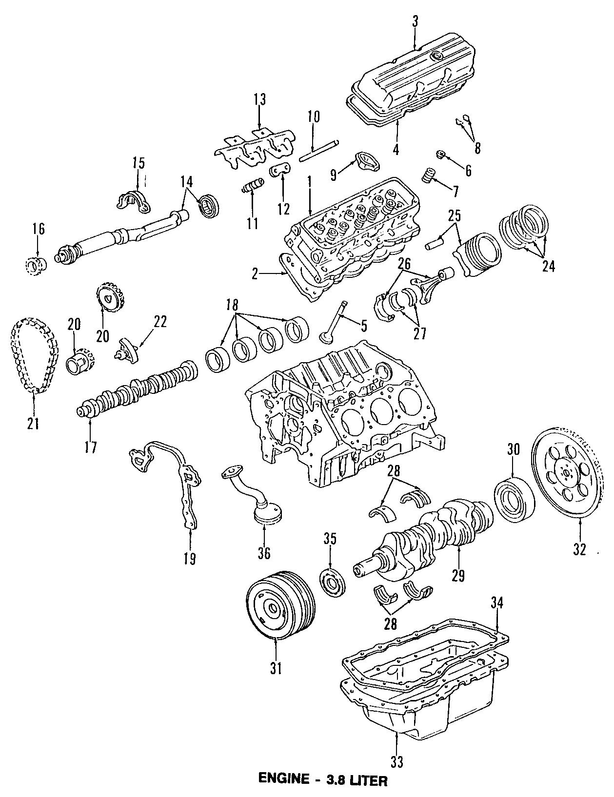 Buick Riviera Engine Push Rod. Models, BEARINGS, CYLINDER
