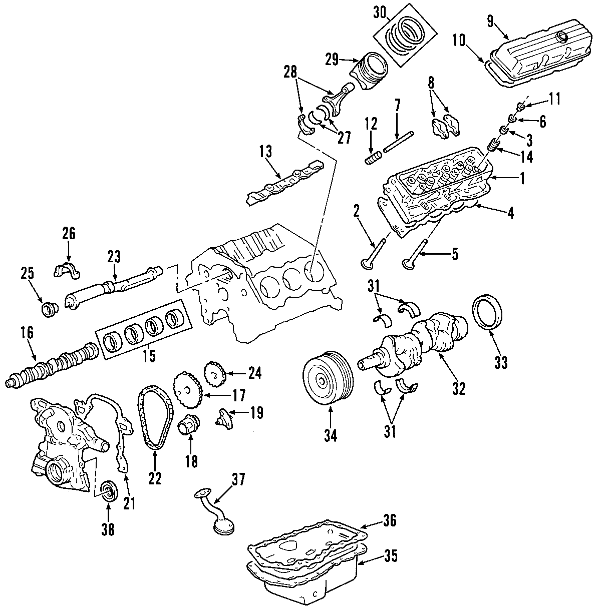 Chevrolet Impala Engine Valve Stem Oil Seal Exhaust